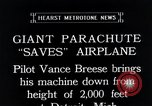 Image of pilot Vance Breese Detroit Michigan, 1935, second 10 stock footage video 65675027484