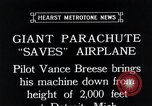 Image of pilot Vance Breese Detroit Michigan, 1935, second 11 stock footage video 65675027484