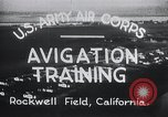 Image of Avigation training Rockwell field California USA, 1935, second 9 stock footage video 65675027487