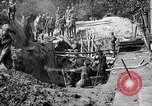 Image of US troops excavating for a dugout Picardy France, 1918, second 10 stock footage video 65675027494