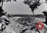 Image of French soldiers observe German shells exploding France, 1916, second 9 stock footage video 65675027509