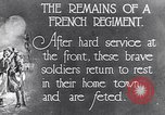 Image of French Regiment returning from the front France, 1917, second 1 stock footage video 65675027514