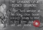 Image of French Regiment returning from the front France, 1917, second 2 stock footage video 65675027514