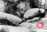 Image of French soldiers move Observation balloons along a road France, 1917, second 11 stock footage video 65675027517