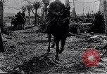 Image of British soldiers move supplies on horse-drawn wagons France, 1916, second 8 stock footage video 65675027526