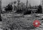 Image of British soldiers move supplies on horse-drawn wagons France, 1916, second 9 stock footage video 65675027526