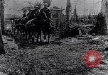 Image of British soldiers move supplies on horse-drawn wagons France, 1916, second 11 stock footage video 65675027526