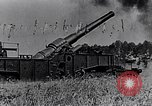 Image of French fire 370mm railway howitzer France, 1917, second 9 stock footage video 65675027532