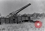 Image of French fire 370mm railway howitzer France, 1917, second 10 stock footage video 65675027532