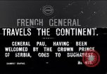 Image of French General Pau visits Serbia World War I Bucharest Romania, 1917, second 1 stock footage video 65675027536