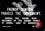 Image of French General Pau visits Serbia World War I Bucharest Romania, 1917, second 3 stock footage video 65675027536