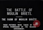 Image of French and British infantry in Battle of Moulin Briete World War I Belgium, 1916, second 3 stock footage video 65675027544