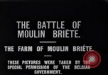 Image of French and British infantry in Battle of Moulin Briete World War I Belgium, 1916, second 5 stock footage video 65675027544