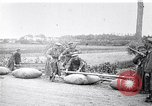 Image of rafts made of poles and canvas bags Belgium, 1915, second 10 stock footage video 65675027547