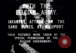 Image of Belgian infantry charge Nieuport Belgium, 1914, second 2 stock footage video 65675027555