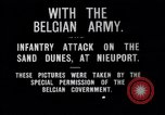 Image of Belgian infantry charge Nieuport Belgium, 1914, second 5 stock footage video 65675027555