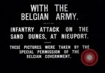 Image of Belgian infantry charge Nieuport Belgium, 1914, second 6 stock footage video 65675027555