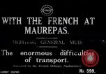 Image of French World War I soldiers cross creek Maurepas Yvelines France, 1917, second 1 stock footage video 65675027557