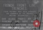 Image of French trenches during World War 1 France, 1917, second 1 stock footage video 65675027561