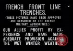 Image of French trenches during World War 1 France, 1917, second 2 stock footage video 65675027561