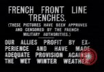 Image of French trenches during World War 1 France, 1917, second 7 stock footage video 65675027561