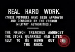 Image of World War I French army trench in a stone quarry France, 1916, second 7 stock footage video 65675027564