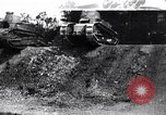 Image of British tank destroys building end World War 1 United Kingdom, 1918, second 1 stock footage video 65675027567