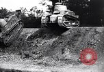 Image of British tank destroys building end World War 1 United Kingdom, 1918, second 5 stock footage video 65675027567