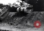 Image of British tank destroys building end World War 1 United Kingdom, 1918, second 6 stock footage video 65675027567