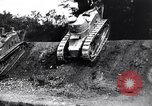 Image of British tank destroys building end World War 1 United Kingdom, 1918, second 8 stock footage video 65675027567
