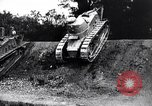 Image of British tank destroys building end World War 1 United Kingdom, 1918, second 9 stock footage video 65675027567