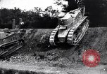 Image of British tank destroys building end World War 1 United Kingdom, 1918, second 11 stock footage video 65675027567