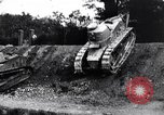 Image of British tank destroys building end World War 1 United Kingdom, 1918, second 12 stock footage video 65675027567