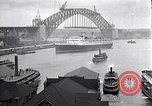 Image of Sydney Harbour Bridge under construction Sydney Australia, 1930, second 9 stock footage video 65675027569