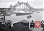 Image of Sydney Harbour Bridge under construction Sydney Australia, 1930, second 10 stock footage video 65675027569