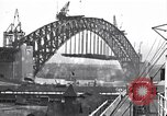 Image of Sydney Harbour Bridge under construction Sydney Australia, 1930, second 11 stock footage video 65675027569