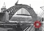 Image of Sydney Harbour Bridge under construction Sydney Australia, 1930, second 12 stock footage video 65675027569