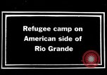 Image of Mexican refugee camp during Pancho Villa punitive expedition Rio Grande Texas USA, 1916, second 7 stock footage video 65675027577