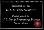Image of Launching of USS Tennessee BB-43 New York United States USA, 1919, second 1 stock footage video 65675027598
