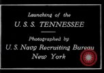 Image of Launching of USS Tennessee BB-43 New York United States USA, 1919, second 2 stock footage video 65675027598
