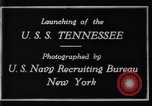 Image of Launching of USS Tennessee BB-43 New York United States USA, 1919, second 4 stock footage video 65675027598