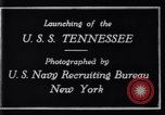 Image of Launching of USS Tennessee BB-43 New York United States USA, 1919, second 5 stock footage video 65675027598