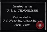 Image of Launching of USS Tennessee BB-43 New York United States USA, 1919, second 7 stock footage video 65675027598