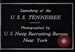 Image of Launching of USS Tennessee BB-43 New York United States USA, 1919, second 9 stock footage video 65675027598