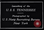 Image of Launching of USS Tennessee BB-43 New York United States USA, 1919, second 10 stock footage video 65675027598