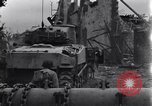 Image of American tanks on streets of St Lo Saint Lo France, 1944, second 4 stock footage video 65675027626