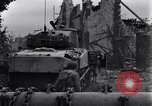 Image of American tanks on streets of St Lo Saint Lo France, 1944, second 5 stock footage video 65675027626