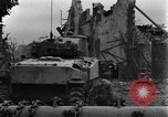 Image of American tanks on streets of St Lo Saint Lo France, 1944, second 6 stock footage video 65675027626