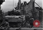 Image of American tanks on streets of St Lo Saint Lo France, 1944, second 7 stock footage video 65675027626