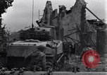 Image of American tanks on streets of St Lo Saint Lo France, 1944, second 8 stock footage video 65675027626